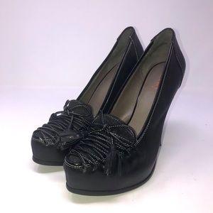 Levity Heeled Shoe Pump Leather Black 8.5